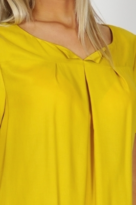 Lady's summer cotton blouse mustard color free silhouette 10775