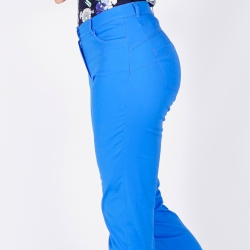 Women's Casual Trousers In Light French Blue 60409