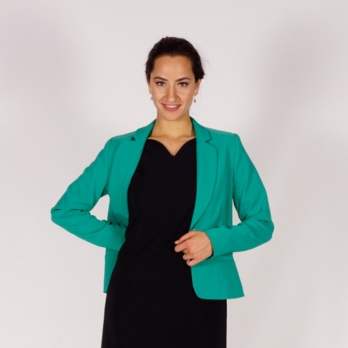 Elegant Women's Pastel Green Jacket With Lining  80708