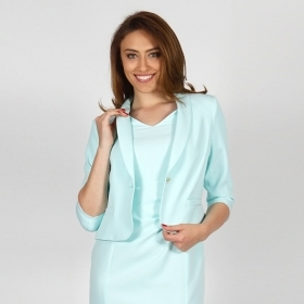 Elegant Formal Women's Bistrech Jacket In Light Mint Color 80660