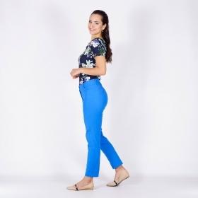 1387bf74954 Спортен дамски панталон в светло френско синьо тип дънки с еластичност 60409