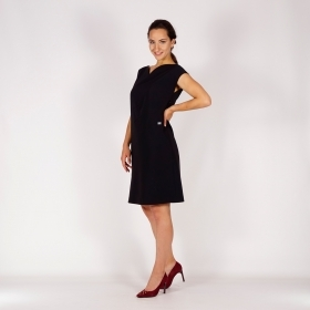 Elegant Ladies Black Dress With Particular Cuts And Sweetheart Neckline 20761