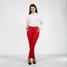 Women's s Casual Red Trousers 60525